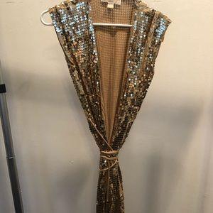 Micheal Kors sequin wrap dress